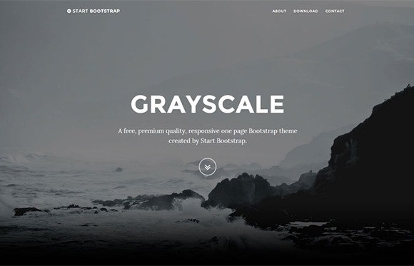 free responive web template html css Grayscale