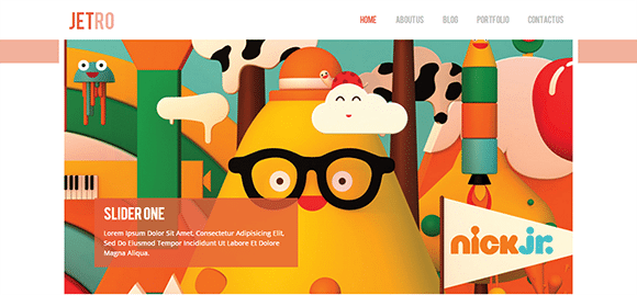 free responive web template html css Jetro-Flat
