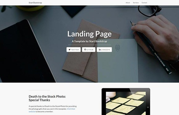 free responive web template html css Landing-Page