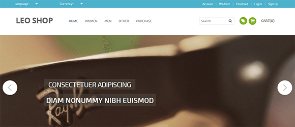 free responive web template html css Leoshop