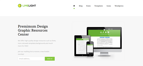free responive web template html css Limelight