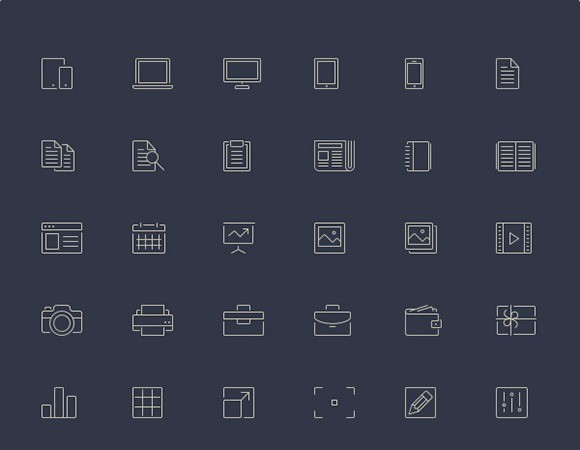 Line-Style Icons