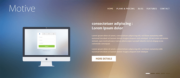 free responive web template html css Motive