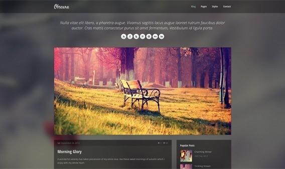 free responive web template html css Obscura