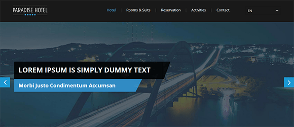 free responive web template html css Paradise-Hotel