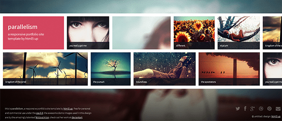 free responive web template html css Parallelism