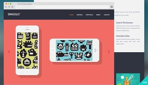 free responive web template html css Singolo