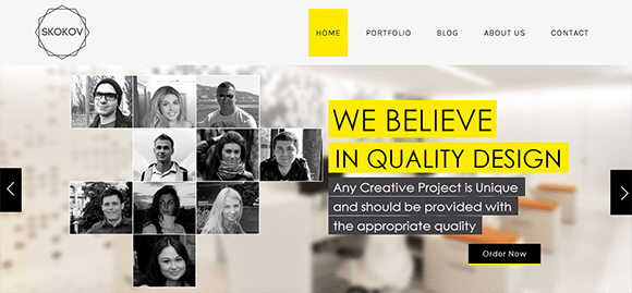 free responive web template html css Skokov