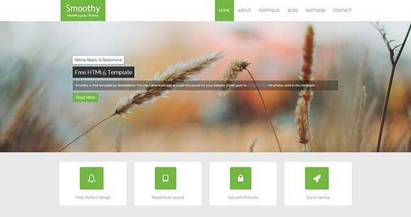free responive web template html css Smoothy