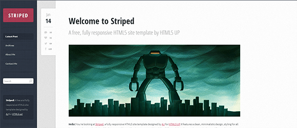 free responive web template html css Striped