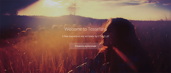 free responive web template html css Tessellate