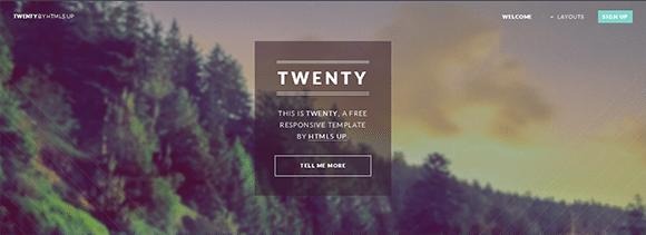 free responive web template html css Twenty