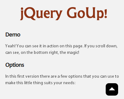 jQuery-GoUp