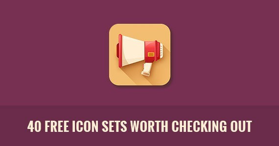 40 Free Icon Sets Worth Checking Out