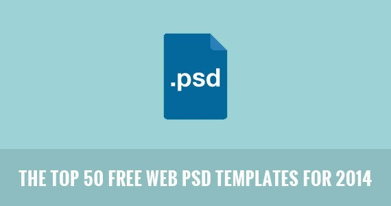 The Top 50 Free Web PSD Templates for 2014