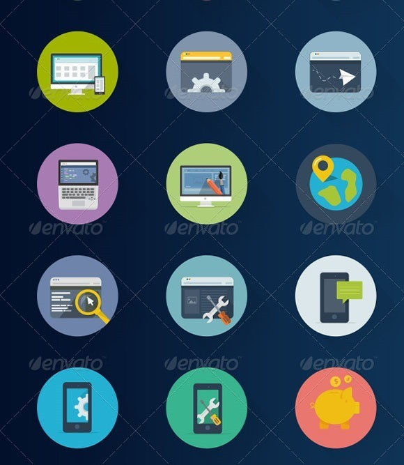 how to create flat icons