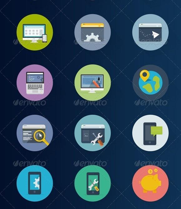 60 Seo Flat Icons