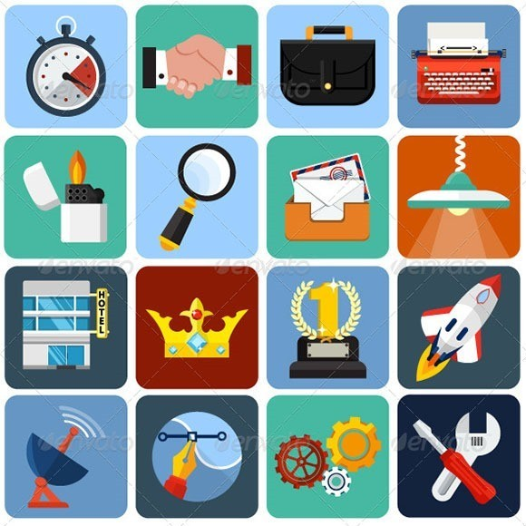 Flat Icons for Web and Application Set 1