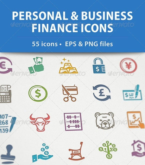 Personal & Business Finance Icons