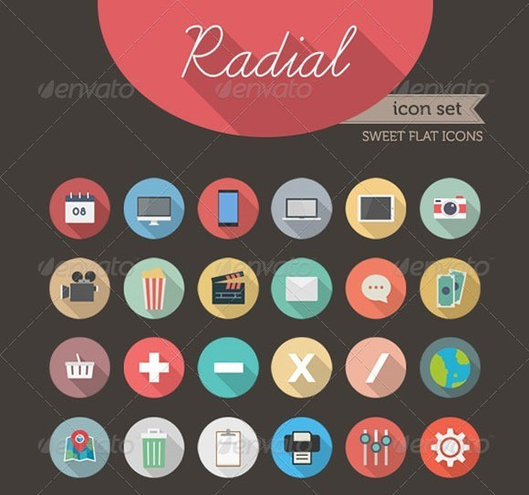 Radial Icon Set