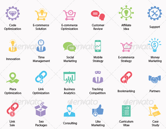 Seo and Business Services Icons