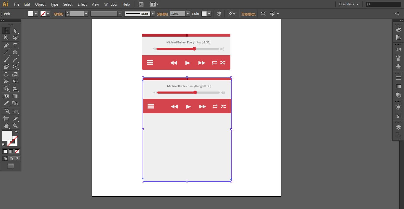 How to Create a Modern Music Player UI Using Adobe Illustrator