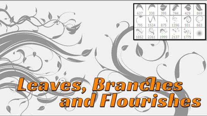 Flourish, Leaves and Vines Brushes