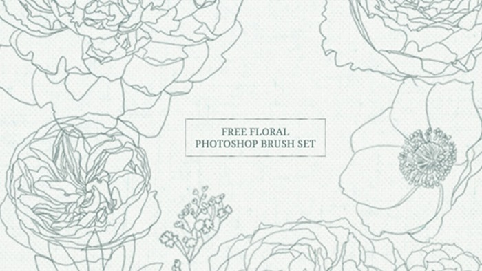 Free Floral Brush Set