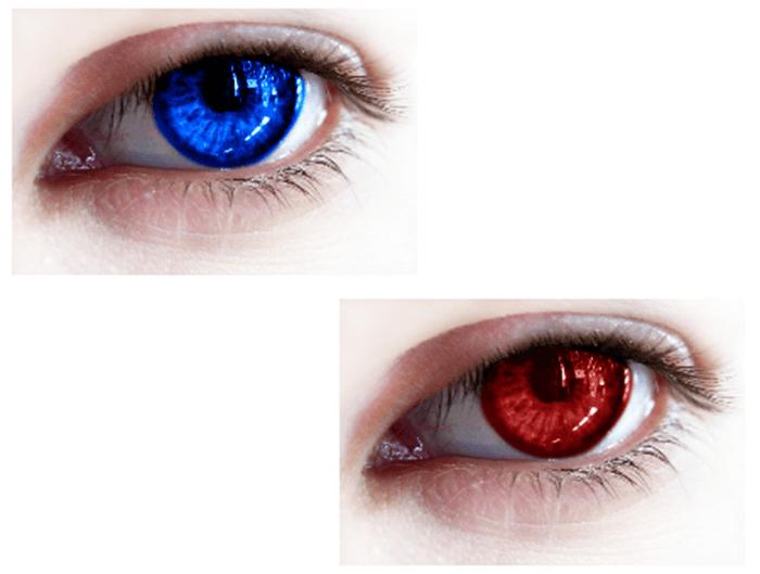 Recoloring Eyes