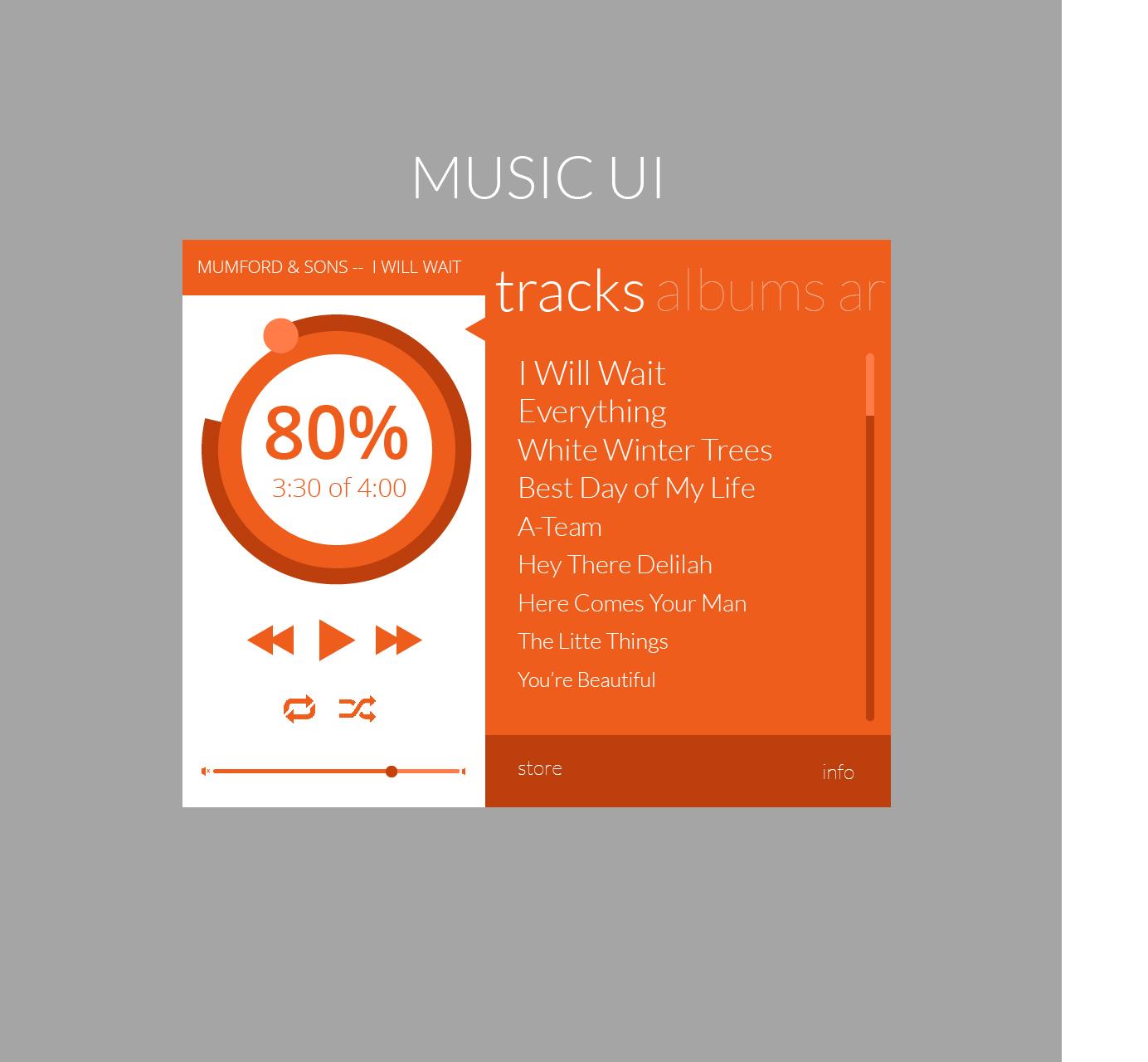 music ui 3