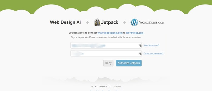 Authorize Jetpack