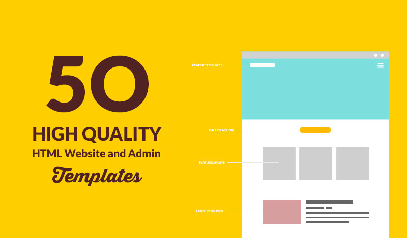 50 High Quality and Responsive HTML Website And Admin Templates ...