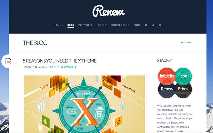 Is X the WordPress Theme for You? - 1stWebDesigner