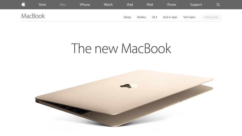 Apple MacBook has designed a super long page to represent its new product emphasising beautiful shots of the product accompanied with smart copy. The goal is simple, convince user to buy by the end of the page.