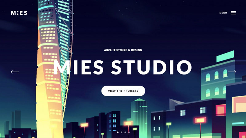 Mies is a very clean and simple flat WordPress theme perfect for creatives.