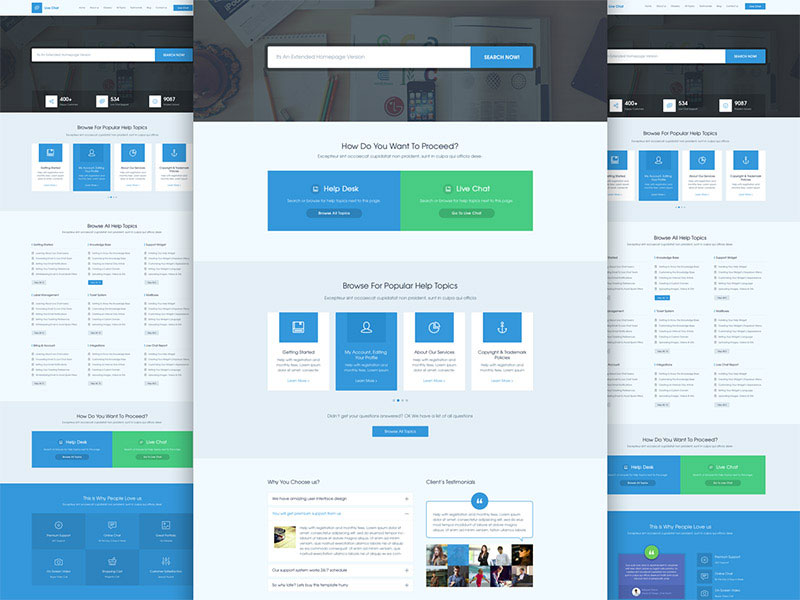 Live Chat - A Design for Help Desk & Support by AwesomeWeb member Masum Rana
