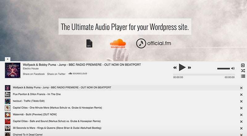 Ultimate audio player for your WordPress website.