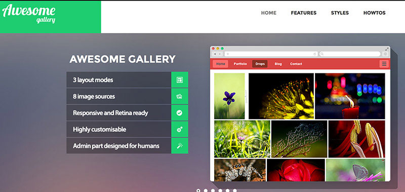 Build nice looking galleries pulling images from various sources.