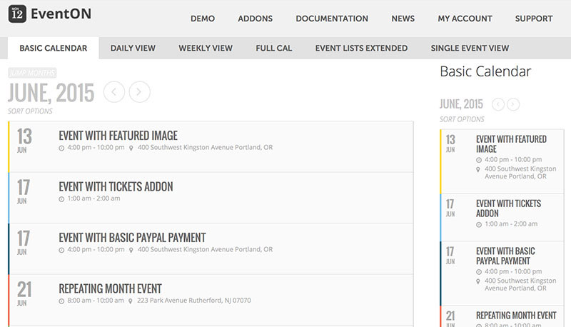 EventOn - WordPress Event Calendar