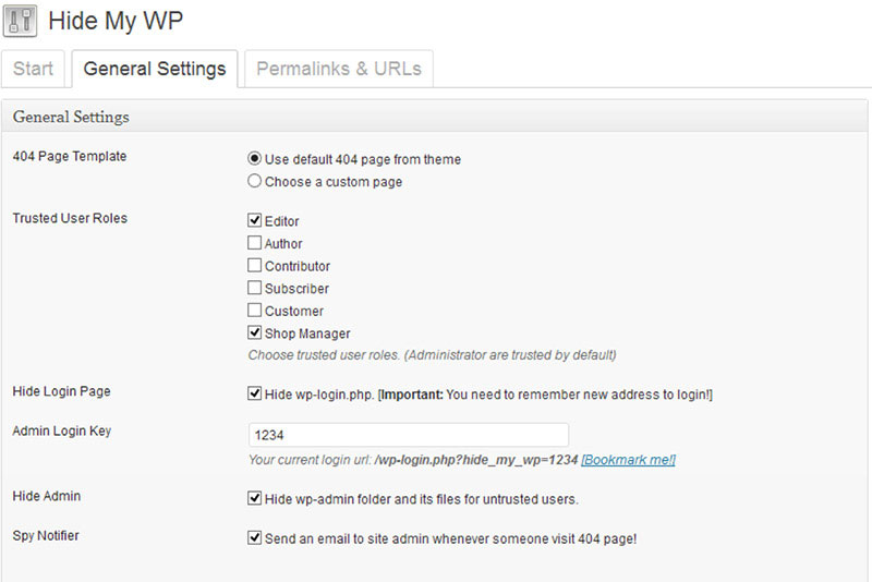 Hide the fact you use WordPress for your site with Hide My WP plugin.