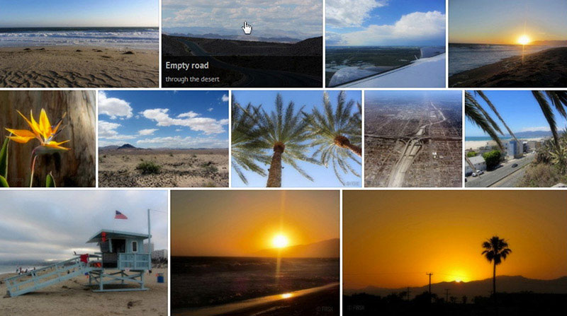 This plugin aligns thumbnails into a justified grid using jQuery, just like Google image search.