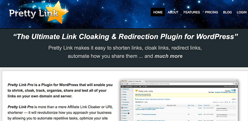 Cloak your affiliate links and optimize your site by testing links.
