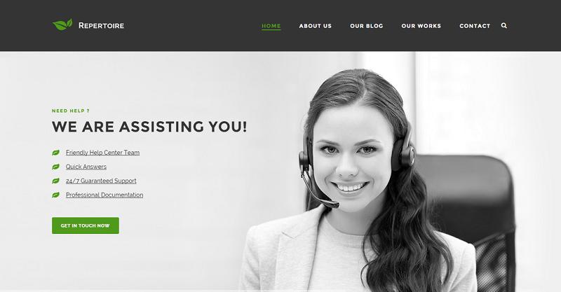 Repertoire - Eco-Friendly Business Theme