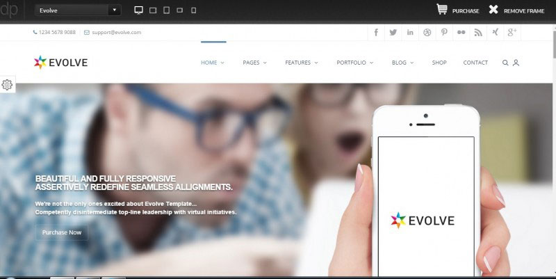 Evolve – Multipurpose WordPress Theme