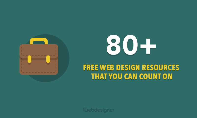 80+ Free Web Design Resources You Thought Didn't Exist