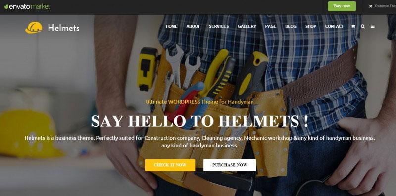 Helmets - Ultimate WordPress Theme for Handyman