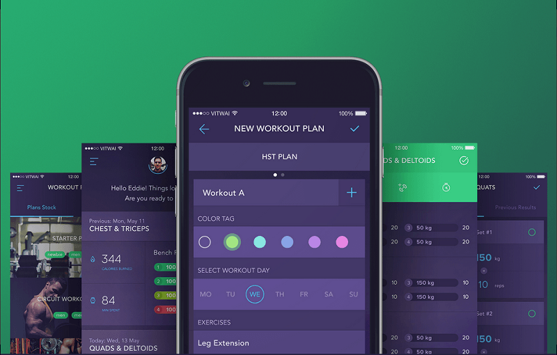 The Workout Book is a no-nonsense straight-to-the-point workout app