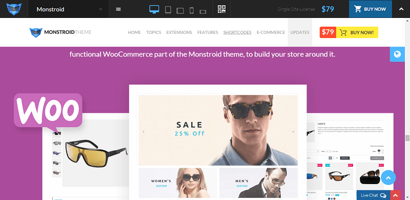 Monstroid is fully integrated with WooCommerce