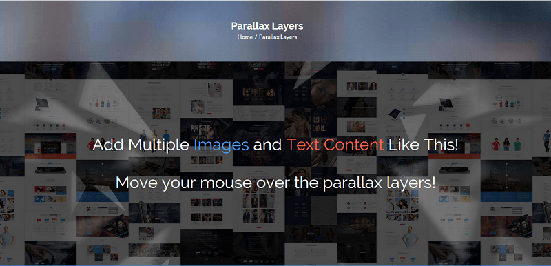 Parallax effect makes your web page more interesting and awesome