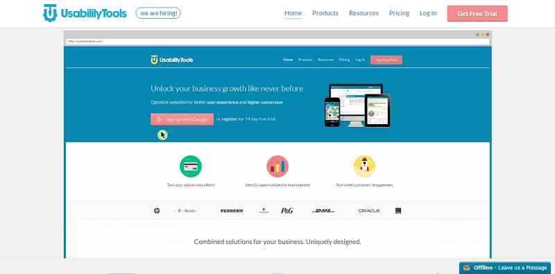 UsabilityTools allows you to get the pulse of your users by directly asking their opinions